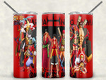 Teams One piece Anime A7777 gift for lover Skinny Tumbler