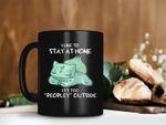 Black Mug I Like To Stay At Home It's Too Peopley Outside Mug Baby Bulbasaur Mug Pokemon Coffee Mug Premium Sublime Ceramic Coffee Mug