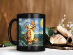 Black Mug Tigger In Canvas Mug Starry Night Mug Van Gogh Mug Pooh Lover Gift Disney Premium Sublime Ceramic Coffee Mug