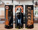Horror Movies The Conjuring Nun Valak Halloween Starbucks 834 gift for lover Skinny Tumbler