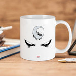 White Mug Marvel  Moon Knight Face Premium Sublime Ceramic Coffee Mug