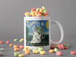 White Mug Baby Yoda In Canvas Mug Starry Night Mug Van Gogh Mug Star Wars Lover Gift The Child Lover Mug 2 Premium Sublime Ceramic Coffee Mug