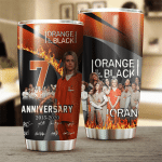 Orange Is the New Black 7th Anniversary 2013 2020 Design Gift For Lover Gift For Fan Day Travel Tumbler All Over Print
