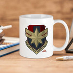 White Mug Captain Marvel Premium Sublime Ceramic Coffee Mug