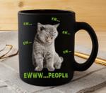 Black Mug Love Cats People Premium Sublime Ceramic Coffee Mug
