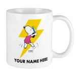 White Mug Snoopy Cartoon Peanuts Snoopy Dance Personalizable Premium Sublime Ceramic Coffee Mug