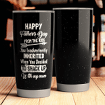 Personalized Happy Fathers Day Gift for lover Day Travel Tumbler All Over Print