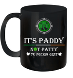 Black Mug It's Paddy Not Patty Ye Feckin Eejit St Patrick's Day Premium Sublime Ceramic Coffee Mug