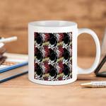 White Mug Marvel Comics Daredevil Pattern  Premium Sublime Ceramic Coffee Mug