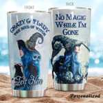 Personalized Witch Cat Lady Gift for lover Day Travel Tumbler All Over Print