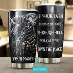Custom name Unicorn Skull if your pathGift for lover Day Travel Tumbler All Over Print