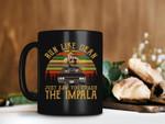 Black Mug Vintage Retro Run Like Dean Just Saw You Crash The Impala Supernatural Movie Mug Dean Winchester Premium Sublime Ceramic Coffee Mug