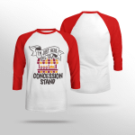 I'm Just Here For the Concession Stand - Sleeve Raglan Tee
