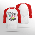 I'm Just Here For the Candy - Sleeve Raglan Tee