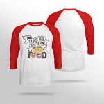 I'm Just Here For the Food - Sleeve Raglan Tee