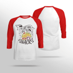 I'm Just Here For the Snacks - Sleeve Raglan Tee