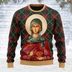 Merry Christmas Gearhomies Unisex Ugly Christmas Sweater St. Paraskeve 3D Apparel