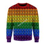 Merry Christmas Gearhomies Unisex Christmas Sweater Among Us Gay Pride 3D Apparel