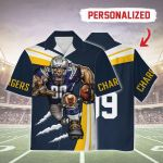 Gearhomies Personalized Unisex Hawaiian Shirt Los Angeles Chargers Football Team 3D Apparel