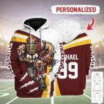 Gearhomies Personalized Unisex Tracksuit Hoodies Washington Football Team 3D Apparel