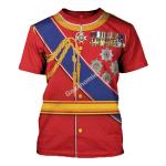 Gearhomies Unisex T-Shirt King Edward VII of the United Kingdom 3D Apparel