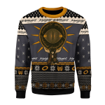 Merry Christmas Gearhomies Unisex Christmas Sweater The Lord of the Rings Burden 3D Apparel