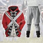 Gearhomies Tracksuit Hoodies Pullover Sweatshirt British Army Red Coat Historical 3D Apparel