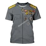 Gearhomies Unisex T-Shirt Erich Ludendorff 3D Apparel
