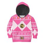 Gearhomies 3D Kid Tops Pullover Sweatshirt Pink Power Rangers