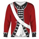 Gearhomies Unisex Sweatshirt Loyalist Redcoat American Revolutionary War 3D Apparel