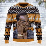 Merry Christmas Gearhomies Unisex Ugly Christmas Sweater Roll Safe Think About It Guy Meme 3D Apparel