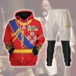 Gearhomies Tracksuit Hoodies Pullover Sweatshirt King Edward VII of the United Kingdom Historical 3D Apparel