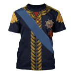Gearhomies Unisex T-Shirt Charles XIV John of Sweden Marshal General in Napoleic War 3D Apparel