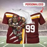 Gearhomies Personalized Unisex T-Shirt Washington Football Team 3D Apparel