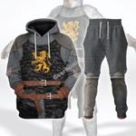 Gearhomies Tracksuit Hoodies Pullover Sweatshirt Heraldic Knight Black Historical 3D Apparel