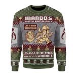 Merry Christmas Gearhomies Unisex Christmas Sweater Mando's Bountry Hunting 3D Apparel