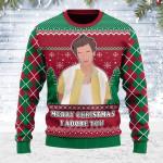 Merry Christmas Gearhomies Unisex Ugly Christmas Sweater I Adore You Harry Christmas 3D Apparel