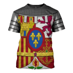 Gearhomies Unisex T-Shirt Coat Of Arms Of Spain 3D Apparel