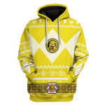 Gearhomies Unisex Tops Pullover Sweatshirt Yellow Power Rangers 3D Apparel