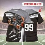 Gearhomies Personalized Unisex T-Shirt Las Vegas Raiders Football Team 3D Apparel