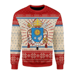 Merry Christmas Gearhomies Unisex Christmas Sweater Pope Francis Coat Of Arms