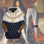 Gearhomies Tracksuit Hoodies Pullover Sweatshirt Louis XIV of France Historical 3D Apparel
