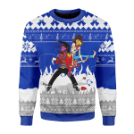 Merry Christmas Gearhomies Unisex Christmas Sweater Beat It 3D Apparel