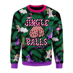 Merry Christmas Gearhomies Unisex Christmas Sweater Jingle Balls 3D Apparel
