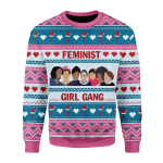 Merry Christmas Gearhomies Unisex Christmas Sweater Feminist Girl Gang