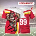 Gearhomies Personalized Unisex T-Shirt Kansas City Chiefs Football Team 3D Apparel