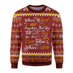 Merry Christmas Gearhomies Unisex Christmas Sweater Gilmore Girls Theme Song Where You Lead I Will Follow