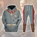 Gearhomies Tracksuit Hoodies Pullover Sweatshirt Wilhelm II Former German Emperor Historical 3D Apparel