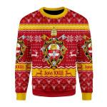 Merry Christmas Gearhomies Unisex Christmas Sweater John XXIII Coat Of Arms 3D Apparel