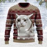 Merry Christmas Gearhomies Unisex Ugly Christmas Sweater Nobiko Cat Meme 3D Apparel